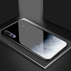 Handyhülle Silikon Hülle Rahmen Schutzhülle Spiegel Modisch Muster K04 für Huawei P20 Pro Schwarz