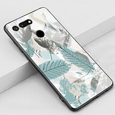 Handyhülle Silikon Hülle Rahmen Schutzhülle Spiegel Modisch Muster K05 für Huawei Honor View 20 Cyan