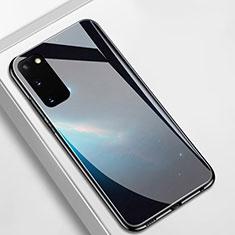 Handyhülle Silikon Hülle Rahmen Schutzhülle Spiegel Modisch Muster M01 für Samsung Galaxy S20 5G Schwarz