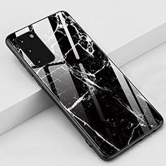 Handyhülle Silikon Hülle Rahmen Schutzhülle Spiegel Modisch Muster M02 für Samsung Galaxy S20 5G Schwarz