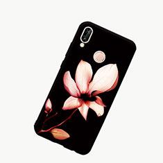 Handyhülle Silikon Hülle Rahmen Schutzhülle Spiegel Modisch Muster S01 für Huawei Honor 10 Lite Schwarz