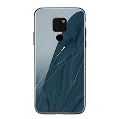 Handyhülle Silikon Hülle Rahmen Schutzhülle Spiegel Modisch Muster S01 für Huawei Mate 20 Blau