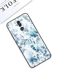 Handyhülle Silikon Hülle Rahmen Schutzhülle Spiegel Modisch Muster S01 für Huawei Mate 20 Lite Blau