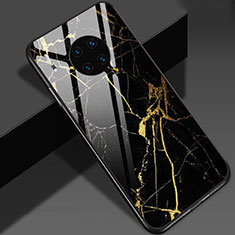 Handyhülle Silikon Hülle Rahmen Schutzhülle Spiegel Modisch Muster S01 für Huawei Mate 30 5G Gold