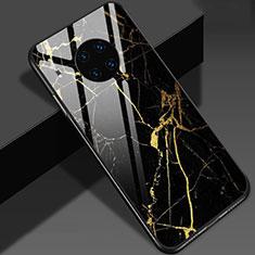 Handyhülle Silikon Hülle Rahmen Schutzhülle Spiegel Modisch Muster S01 für Huawei Mate 30 Pro 5G Gold