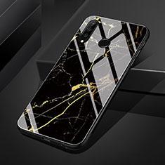 Handyhülle Silikon Hülle Rahmen Schutzhülle Spiegel Modisch Muster S01 für Huawei P30 Lite Gold