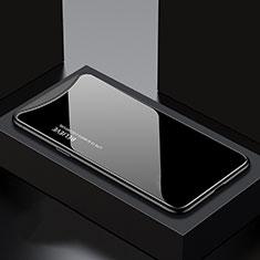 Handyhülle Silikon Hülle Rahmen Schutzhülle Spiegel Modisch Muster S01 für Oppo Find X Schwarz
