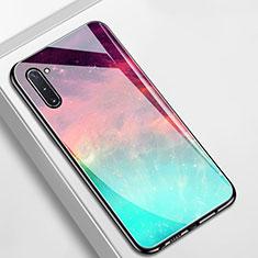Handyhülle Silikon Hülle Rahmen Schutzhülle Spiegel Modisch Muster S01 für Samsung Galaxy Note 10 5G Cyan