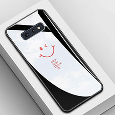 Handyhülle Silikon Hülle Rahmen Schutzhülle Spiegel Modisch Muster S01 für Samsung Galaxy S10e Schwarz
