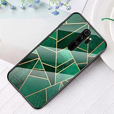 Handyhülle Silikon Hülle Rahmen Schutzhülle Spiegel Modisch Muster S01 für Xiaomi Redmi Note 8 Pro Grün