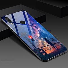 Handyhülle Silikon Hülle Rahmen Schutzhülle Spiegel Modisch Muster S02 für Huawei Honor 10 Lite Blau
