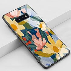 Handyhülle Silikon Hülle Rahmen Schutzhülle Spiegel Modisch Muster S02 für Samsung Galaxy S10e Gelb
