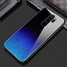 Handyhülle Silikon Hülle Rahmen Schutzhülle Spiegel Modisch Muster S02 für Xiaomi Redmi Note 8 Pro Blau