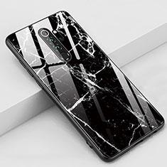 Handyhülle Silikon Hülle Rahmen Schutzhülle Spiegel Modisch Muster S03 für Xiaomi Redmi Note 8 Pro Schwarz