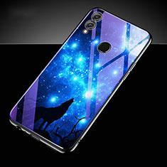 Handyhülle Silikon Hülle Rahmen Schutzhülle Spiegel Modisch Muster S04 für Huawei Honor 10 Lite Blau