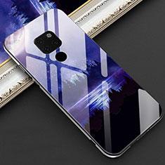 Handyhülle Silikon Hülle Rahmen Schutzhülle Spiegel Modisch Muster Z01 für Huawei Mate 20 Blau