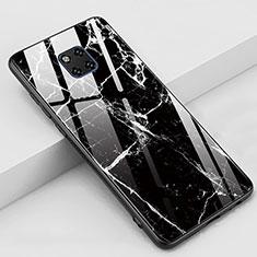Handyhülle Silikon Hülle Rahmen Schutzhülle Spiegel Modisch Muster Z02 für Huawei Mate 20 Pro Schwarz