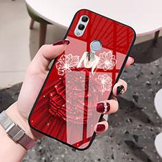 Handyhülle Silikon Hülle Rahmen Schutzhülle Spiegel Motiv Kleid Mädchen für Huawei Honor 10 Lite Rot