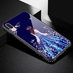 Handyhülle Silikon Hülle Rahmen Schutzhülle Spiegel Motiv Kleid Mädchen für Huawei P20 Schwarz