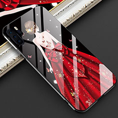 Handyhülle Silikon Hülle Rahmen Schutzhülle Spiegel Motiv Kleid Mädchen für Huawei P30 Pro Rot
