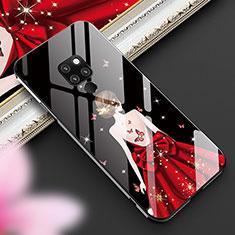 Handyhülle Silikon Hülle Rahmen Schutzhülle Spiegel Motiv Kleid Mädchen K01 für Huawei Mate 20 Schwarz