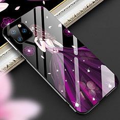 Handyhülle Silikon Hülle Rahmen Schutzhülle Spiegel Motiv Kleid Mädchen M01 für Apple iPhone 11 Pro Max Violett