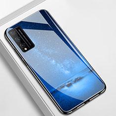 Handyhülle Silikon Hülle Rahmen Schutzhülle Spiegel Sternenhimmel für Huawei Honor Play4T Pro Blau
