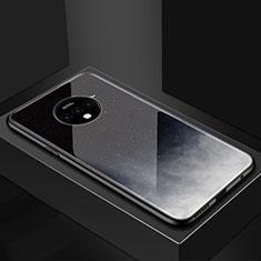 Handyhülle Silikon Hülle Rahmen Schutzhülle Spiegel Sternenhimmel für OnePlus 7T Grau