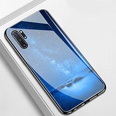Handyhülle Silikon Hülle Rahmen Schutzhülle Spiegel Sternenhimmel für Samsung Galaxy Note 10 Plus Blau