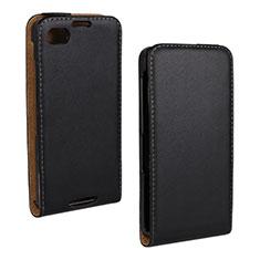 Handytasche Flip Schutzhülle Leder für Blackberry A10 Schwarz