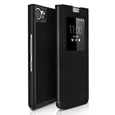 Handytasche Flip Schutzhülle Leder für Blackberry KEYone Schwarz