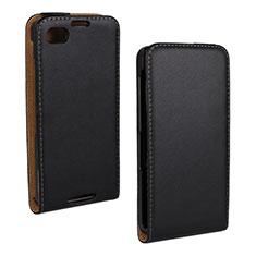 Handytasche Flip Schutzhülle Leder für Blackberry Q10 Schwarz
