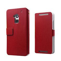 Handytasche Flip Schutzhülle Leder für HTC One Max Rot