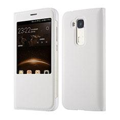 Handytasche Flip Schutzhülle Leder für Huawei G7 Plus Weiß