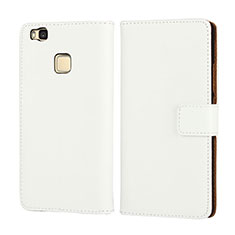 Handytasche Flip Schutzhülle Leder für Huawei G9 Lite Weiß