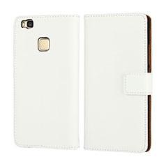 Handytasche Flip Schutzhülle Leder für Huawei P9 Lite Weiß