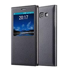 Handytasche Flip Schutzhülle Leder für Samsung Galaxy A7 SM-A700 Schwarz