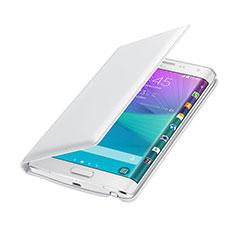 Handytasche Flip Schutzhülle Leder für Samsung Galaxy Note Edge SM-N915F Weiß