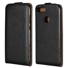Handytasche Flip Schutzhülle Leder V01 für Huawei Honor 9 Lite Schwarz