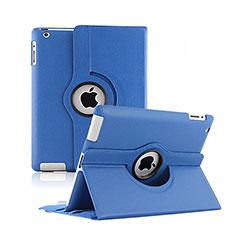 Handytasche Rotierende Schutzhülle Leder für Apple iPad 2 Blau