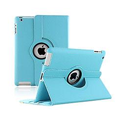 Handytasche Rotierende Schutzhülle Leder für Apple iPad 2 Hellblau
