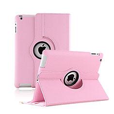 Handytasche Rotierende Schutzhülle Leder für Apple iPad 2 Rosa