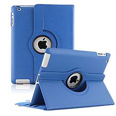 Handytasche Rotierende Schutzhülle Leder für Apple iPad 3 Blau