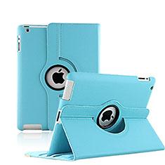 Handytasche Rotierende Schutzhülle Leder für Apple iPad 3 Hellblau