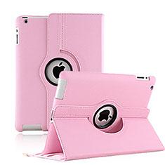 Handytasche Rotierende Schutzhülle Leder für Apple iPad 3 Rosa
