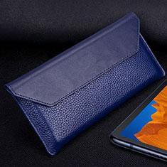 Handytasche Schutzhülle Flip Leder Hülle T02 für Huawei Mate Xs 5G Blau