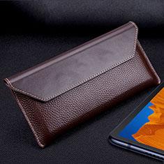 Handytasche Schutzhülle Flip Leder Hülle T02 für Huawei Mate Xs 5G Braun