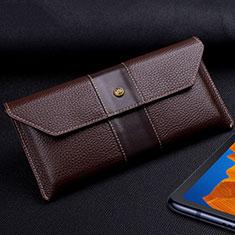 Handytasche Schutzhülle Flip Leder Hülle T03 für Huawei Mate Xs 5G Braun