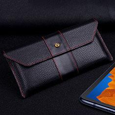 Handytasche Schutzhülle Flip Leder Hülle T03 für Huawei Mate Xs 5G Schwarz