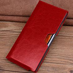 Handytasche Schutzhülle Flip Leder Hülle T04 für Huawei Mate Xs 5G Rot